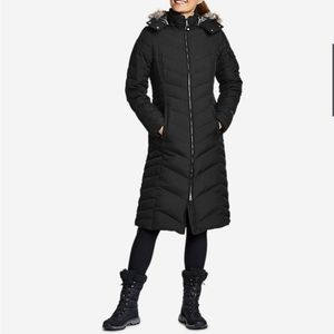Eddie Bauer Sun Valley Down Duffle Coat in black